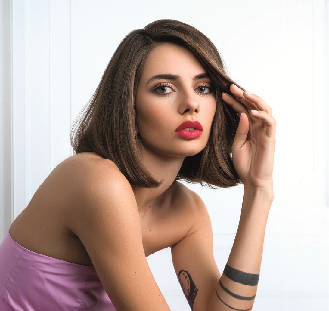 Un modèle de coiffure féminin